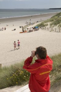 Lifeguard at Curracloe Beach Wexford