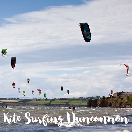 Kite Surfers at Duncannon Beach in Co Wexford
