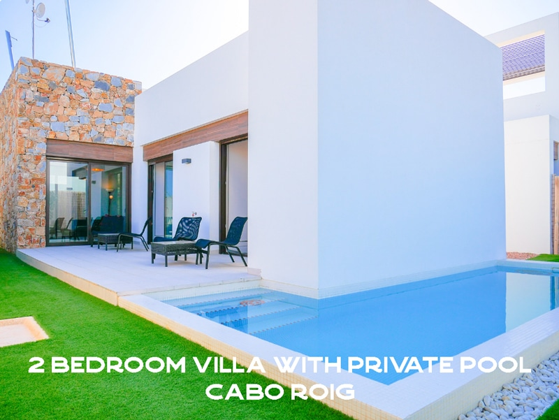 2 Bedroom Villa with private pool Cabo Roig