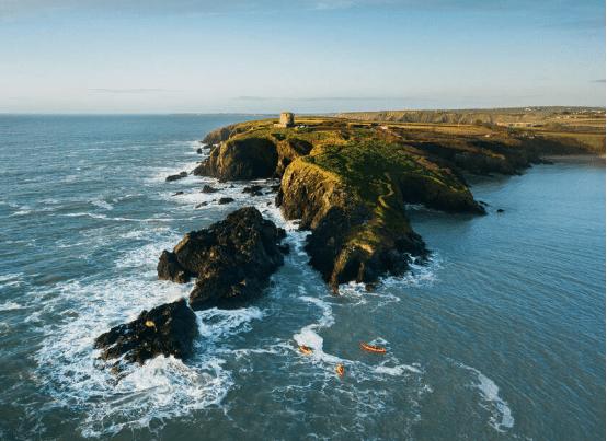 The rocky coastline of Baginbun Head Co. Wexford